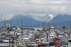 港口在荷马,阿拉斯加 免版税库存照片