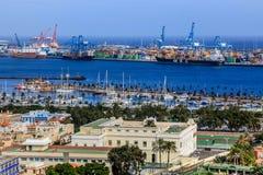 港口在Las Palmas de Gran Canaria。 西班牙 免版税库存照片