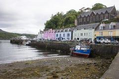 港口在Portree,苏格兰 免版税库存照片