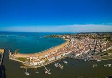 港口在Saint吉恩de卢斯 法国 图库摄影