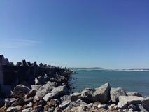港口在Yzerfontein 免版税库存照片