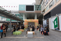 港口城市在香港 免版税库存图片