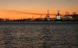 港口墨尔本 库存图片