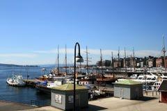 港口奥斯陆 库存图片