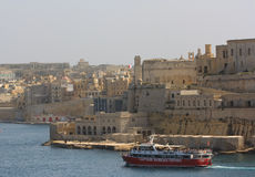 港口巡航,瓦莱塔,马耳他 免版税库存图片
