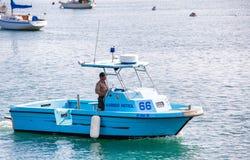 港口巡逻艇 库存图片