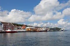 港口挪威斯塔万格 免版税库存照片
