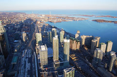 港口摩天大楼多伦多 免版税库存图片