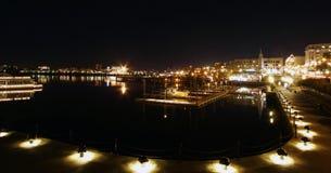 港口晚上维多利亚 图库摄影