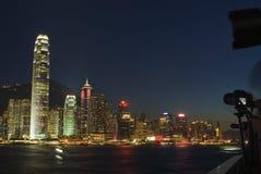 港口晚上维多利亚 免版税图库摄影