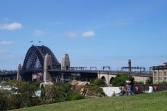 绘画港口桥梁 图库摄影
