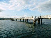 港口桥梁 免版税库存图片