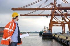 港口检验 免版税图库摄影