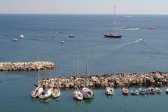 港口海岛意大利procida 库存照片