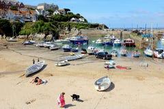 港口海滩, Newquay,康沃尔郡 免版税库存照片
