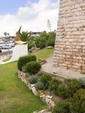港口的堡垒在卡斯卡伊斯在里斯本葡萄牙附近的爱都酒店 库存照片