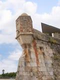 港口的堡垒在卡斯卡伊斯在里斯本葡萄牙附近的爱都酒店 库存图片