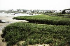 港口的沼泽在Chatham,鳕鱼角的马萨诸塞 免版税库存照片