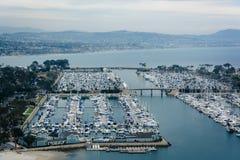港口的看法和从肯桑普森的小游艇船坞俯视公园我 免版税图库摄影