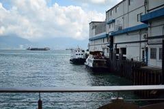 港口的看法 免版税库存照片