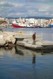港口的看法 库存照片