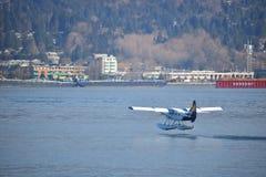 港口空气从温哥华港口发射 免版税库存图片