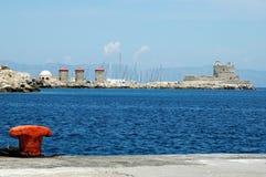 港口罗得斯 库存照片