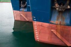 港口船锚船背景 库存图片