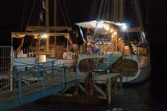 港口被停泊的游艇 库存图片
