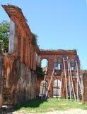 港口设施被破坏的墙壁在Brazil_01的 图库摄影