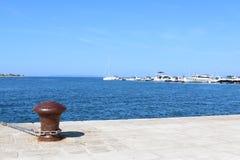 港口诺瓦利亚Pag克罗地亚 免版税库存照片