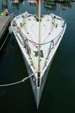 港口赛跑的游艇 免版税图库摄影