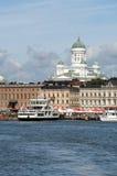 港口赫尔辛基视图 免版税库存图片