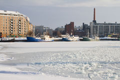 港口赫尔辛基 免版税库存照片