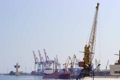 港口起重机在海口 免版税库存照片