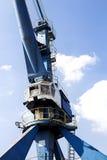 港口起重机特写镜头 免版税库存图片