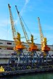 港口起重机 免版税库存照片