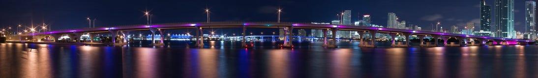 港口迈阿密全景 免版税图库摄影