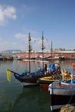 港口风景的scarborough 免版税库存照片