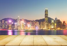 港口香港维多利亚 库存照片