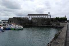 港口, Ponta Delgada,葡萄牙 免版税库存照片