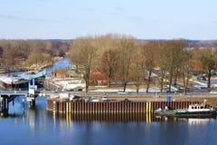 港口Dömitz 库存照片