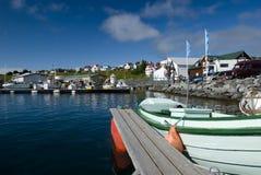 港口husavik冰岛 库存照片