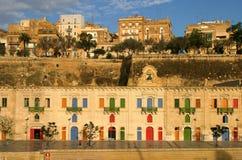 港口la马耳他瓦莱塔 免版税库存照片