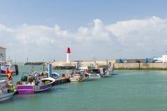 港口La Cotinière Oleron法国 库存照片