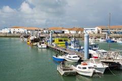 港口La Cotinière Oleron法国 免版税库存照片