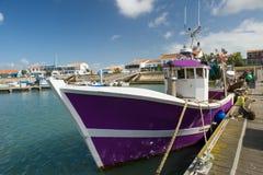 港口La Cotinière Oleron法国 免版税图库摄影