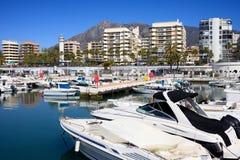 港口marbella 免版税图库摄影