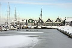港口marken荷兰 库存图片