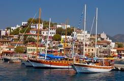 港口marmaris 免版税图库摄影